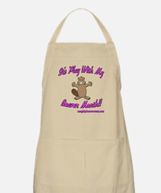 Play With My Beaver Month BBQ Apron