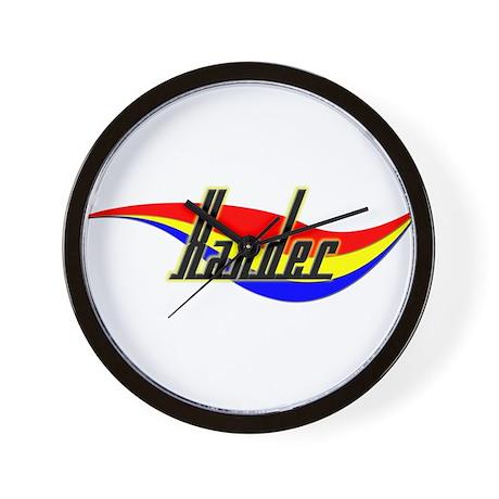 Xander's Power Swirl Name Wall Clock