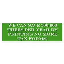 Save the Trees Bumper Car Sticker