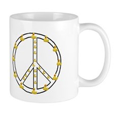 Yellow Ducky Peace Symbol Mug
