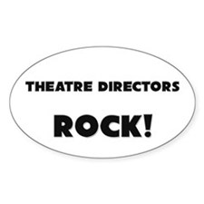 Theater Managers ROCK Oval Decal
