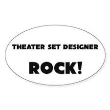 Theater Lighting Directors ROCK Oval Decal