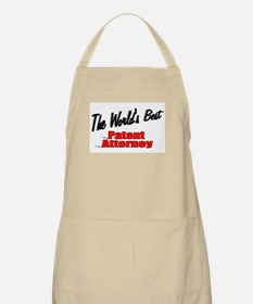 """""""The World's Best Patent Attorney"""" BBQ Apron"""