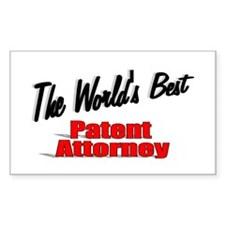"""""""The World's Best Patent Attorney"""" Decal"""