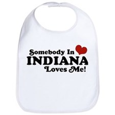 Somebody In Indiana Loves Me Bib