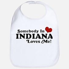 Somebody In Indiana Loves Me Bib