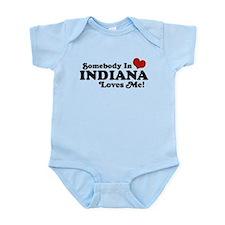 Somebody In Indiana Loves Me Infant Bodysuit