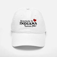 Somebody In Indiana Loves Me Baseball Baseball Cap
