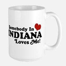Somebody In Indiana Loves Me Large Mug