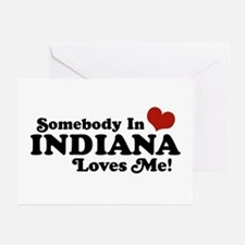 Somebody In Indiana Loves Me Greeting Cards (Pk of