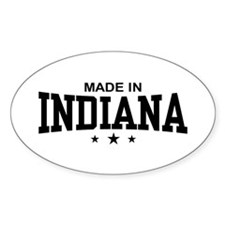 Made In Indiana Oval Decal
