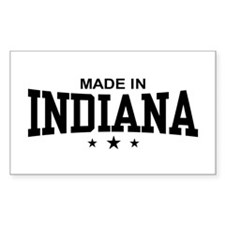 Made In Indiana Rectangle Decal