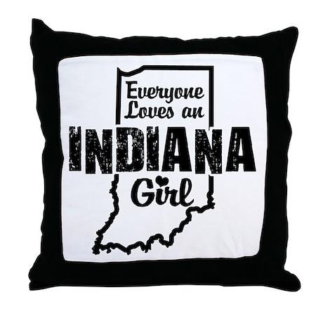 Indiana Girl Throw Pillow