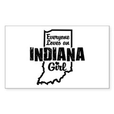 Indiana Girl Rectangle Decal