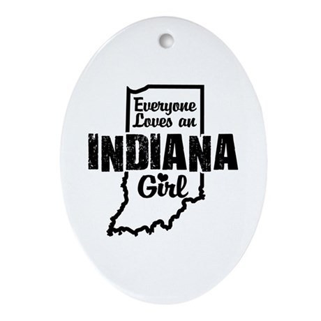 Indiana Girl Oval Ornament