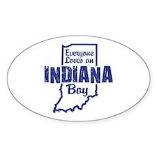 Indiana Boy Oval Decal