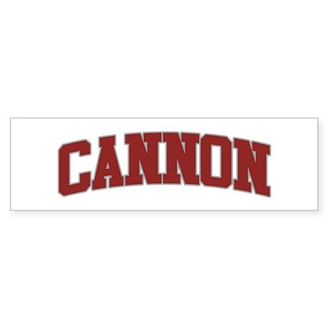 CANNON Design Bumper Sticker