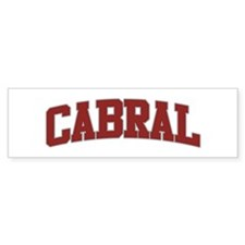 CABRAL Design Bumper Bumper Sticker