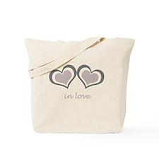 2 Hearts in Love Tote Bag