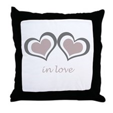 2 Hearts in Love Throw Pillow