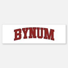 BYNUM Design Bumper Bumper Bumper Sticker