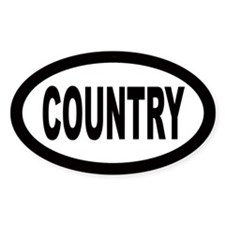 Country Oval Decal