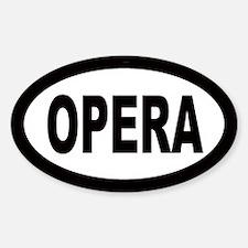 Opera Oval Decal