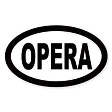 Opera Oval Stickers
