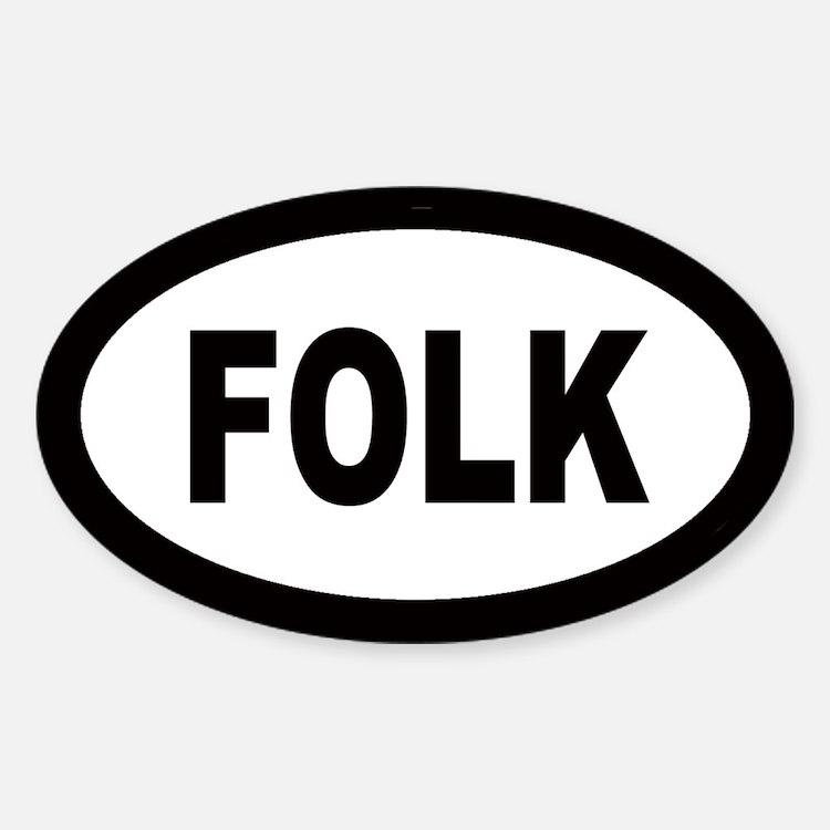 Folk Oval Decal