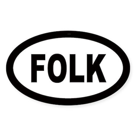 Folk Oval Sticker