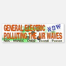 GE Airwave Pollution Bumper Bumper Bumper Sticker