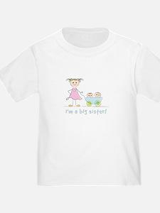 I'm a big sister t-shirt: twins