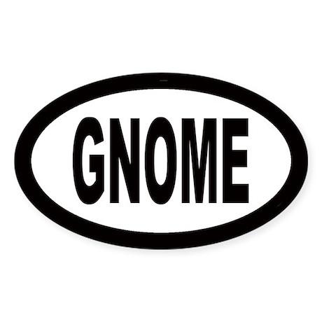 Gnome Oval Sticker