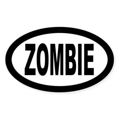 Zombie Oval Sticker