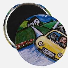 "flat coated retriever summer 2.25"" Magnet (10 pack"