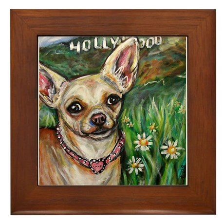 Hollywood Chihuahua Framed Tile