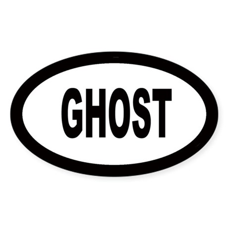 Ghost Oval Sticker