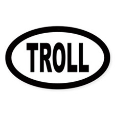 Troll Oval Decal