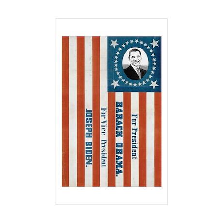 """Obama and Biden"" Flag Rectangle Sticker 50 pk)"