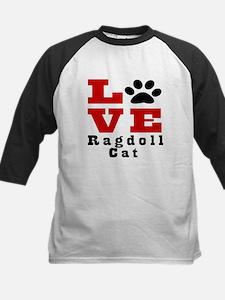 Love ragdoll Cat Kids Baseball Jersey