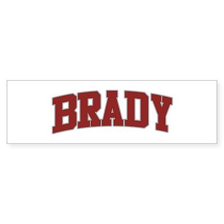 BRADY Design Bumper Sticker