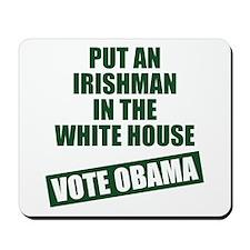 Irishman In White House Mousepad
