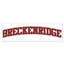 BRECKENRIDGE Design Bumper Bumper Sticker