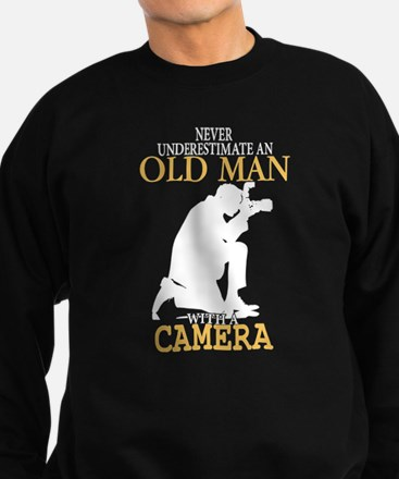 Old Man With A Camera T Shirt Jumper Sweater