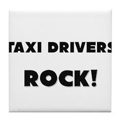 Taxi Drivers ROCK Tile Coaster