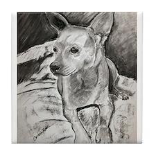 """""""Peanut"""" a Chihuahua Tile Coaster"""