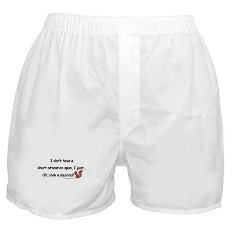Attention Span Squirrel Boxer Shorts