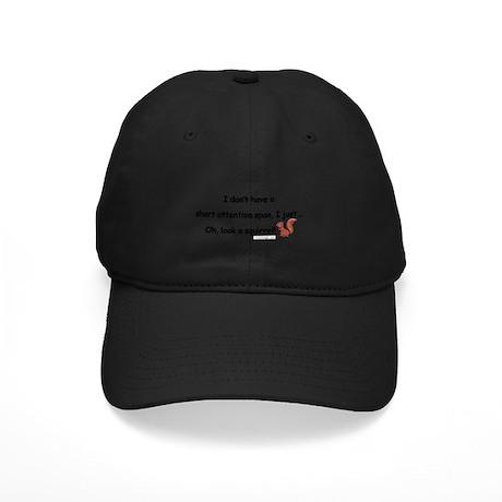 Attention Span Squirrel Black Cap