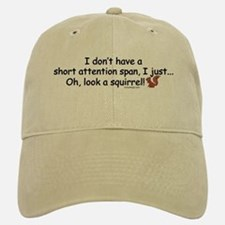 Attention Span Squirrel Baseball Baseball Cap