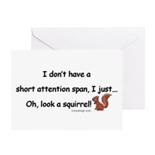 Attention Span Squirrel Greeting Card